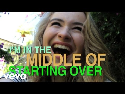 Sabrina Carpenter - The Middle of Starting Over (Official Lyric Video)