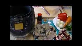 Домашние видео рецепты -  тушеная осетрина с овощами в мультиварке