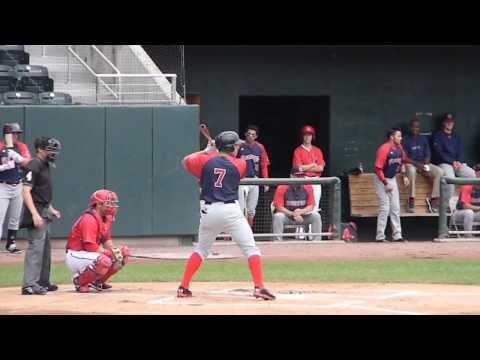 RedSox Prospect Garin Cecchini Triple Vs Harrisburg 8/18/13 HD