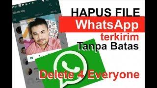 """Cara Hapus Pesan Foto Video Dokumen File Terkirim """"Delete for Everyone"""" WhatsApp Tanpa Bat"""