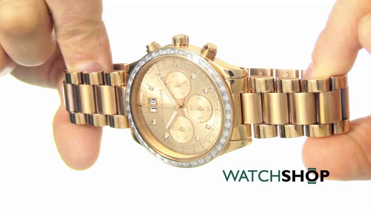 9c5e7093d4c5 Michael Kors Ladies  Chronograph Watch (MK6204) - YouTube