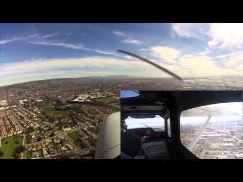 Palo Alto (KPAO) to Hayward (KHWD) and Back in a Cessna Skycatcher 162 - 2015-02-11