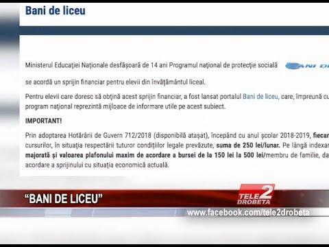 """BANI DE LICEU"""