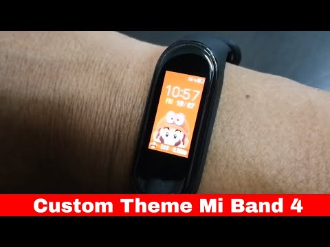 Mi Band 4 with custom theme