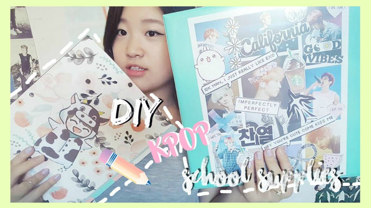 Diy Kpop Book Cover ~ Diy kpop back to school supplies customize your binder
