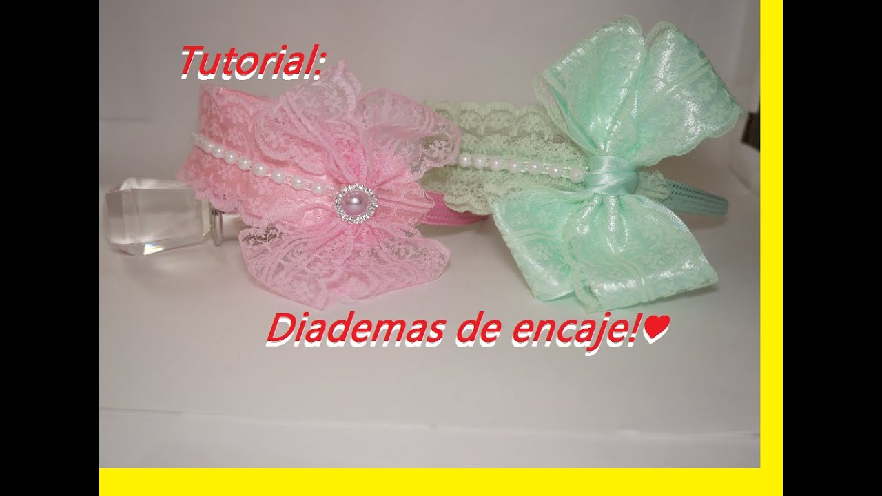 Tutorial diademas de encaje 40 youtube - Diademas de encaje ...