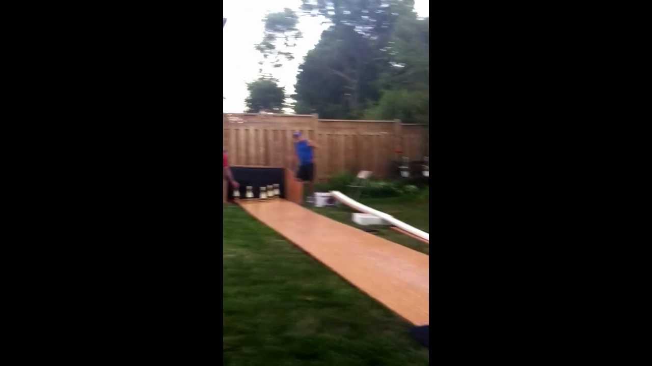 backyard bowling 5pin youtube