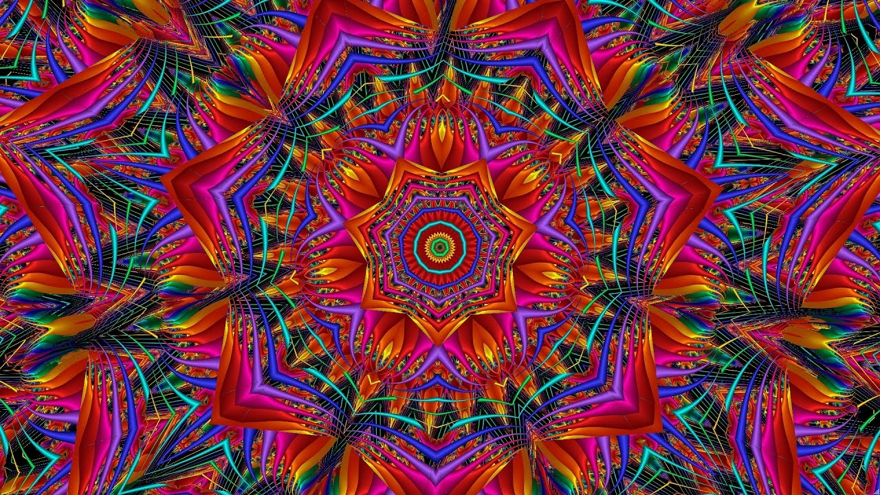 magic colors and shapes of a kaleidoscope (from one fractal). - youtube