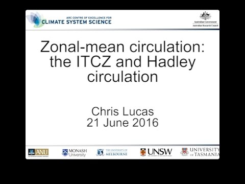Zonal-mean circulation: the ITCZ and Hadley circulation (Chris Lucas)