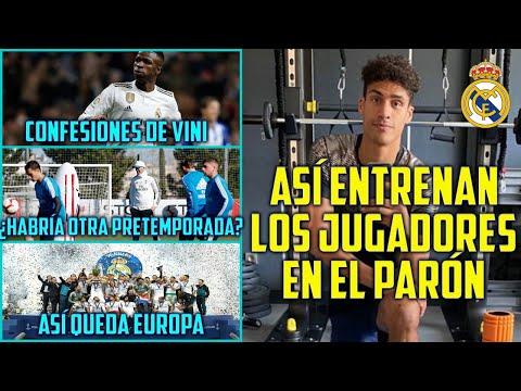 ASÍ ENTRENAN EN CASA LOS JUGADORES DEL MADRID - VINICIUS EXPLICA SU DECISIÓN ENTRE MADRID Y BARÇA - 동영상