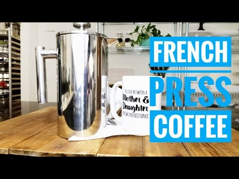 How to make FRENCH PRESS  coffee | Stainless Steel French Press