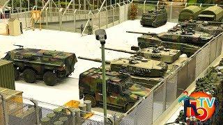 Bruder TV - MILITARY BASE Militärstützpunkt ModellBau WEls 2017 Tanks