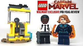 LEGO Captain Marvel and Nick Fury Polybag REVIEW - Set 30453