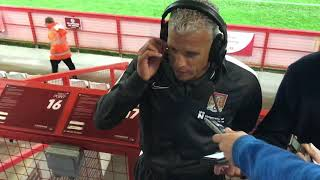 Keith Curle speaks to BBC Radio Northampton after the win at Stevenage