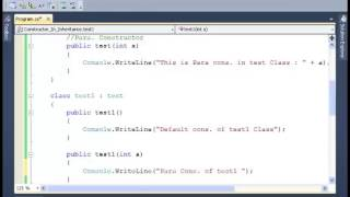 C#: How to user Constructor in Inheritance - Tutorial 1