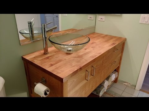 Modern Vanity - Finishing and Installation