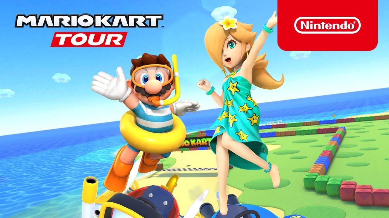 Mario Kart Tour S Marine Tour Now Live Features Swimwear Mario