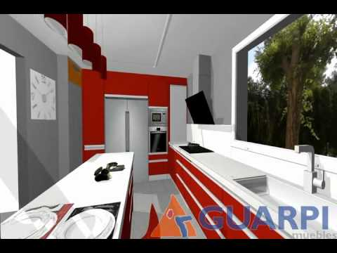 Proyecto de cocina moderna con isla youtube - Cocinas con islas modernas ...