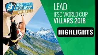 IFSC Climbing World Cup Villars 2018 - Lead Finals Highlights