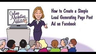 Facebook Ads - كيفية إنشاء يؤدي توليد آخر الصفحة الإعلانية (فيد 1/3)