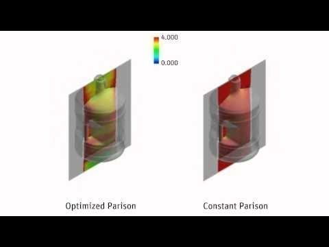 ANSYS Polyflow: Blow Molding Simulation for Optimized Thickness