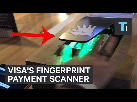 Visa's fingerprint payment scanner