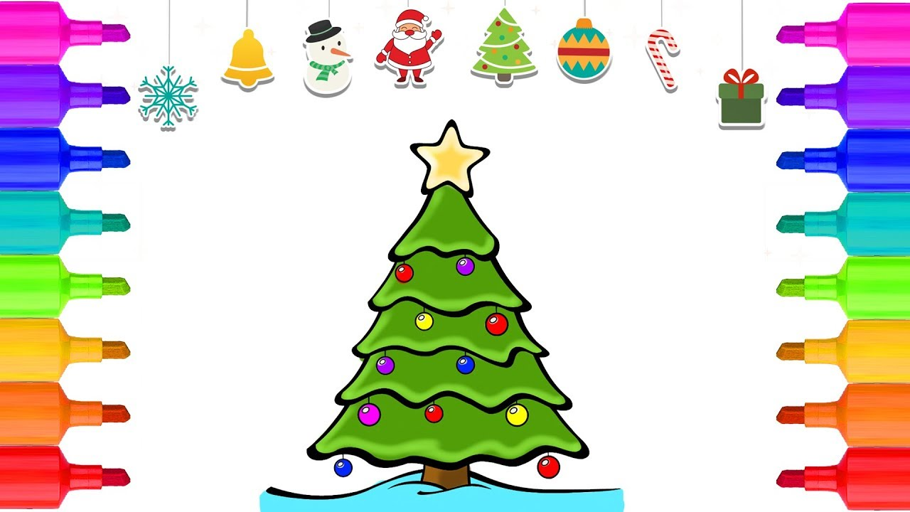 100+ [ Christmas Tree Coloring Pages Ornaments ] | Christmas Tree ...