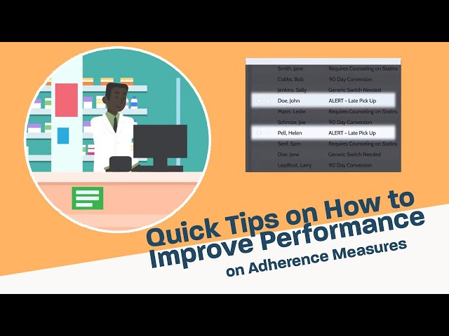 Quick Tips on How to Improve Performance on Adherence Measures