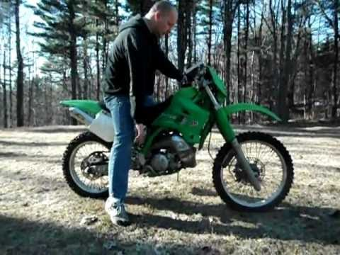 1996 Kawasaki KDX200 Cold Start