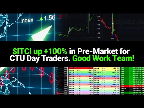$ITCI Up +100% In Pre-Market For CTU Day Traders. Good Work Team!