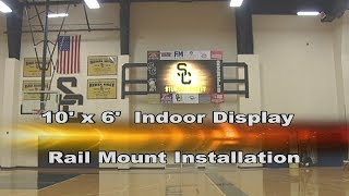 10' x 6' Indoor Display Rail Mount Installation