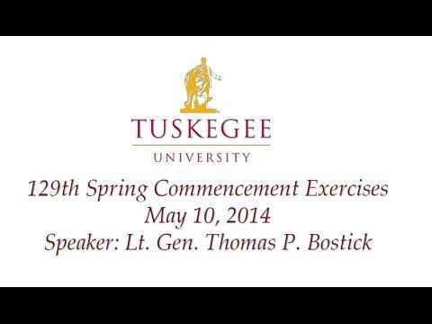 Lt. Gen. Thomas P. Bostick Speaker, Tuskegee University 129th Spring Commencement