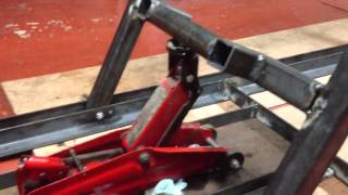 Repeat youtube video Motorcycle work bench/lift. Part 3.