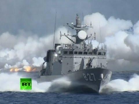 Japan Navy video: Armada flexes muscles amid islands dispute
