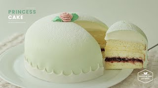 프린세스 케이크  만들기💖 : Swedish Princess Cake Recipe : プリンセスケーキ | Cooking tree