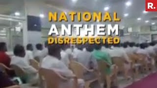 Congress Members Disrespect National Anthem