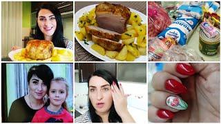 ВЛОГ Обзор покупок Цены в Украине Сделала брови и маникюр Что готовлю на ужин