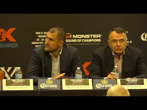 Ward Kovalev Oakland Press Conference