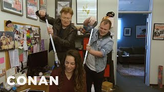 Conan Shares Coronavirus Tips With His Staff - CONAN on TBS