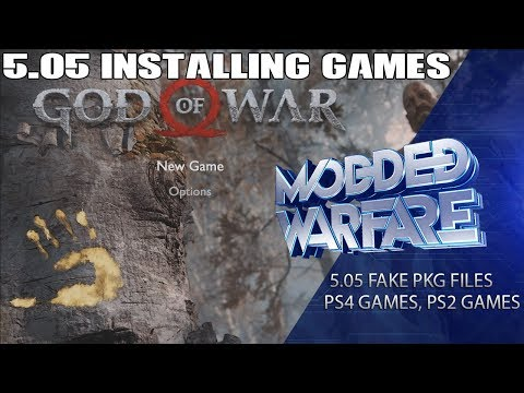 5.05 Installing Package Files (PS4/PS2 Games & Custom Themes)