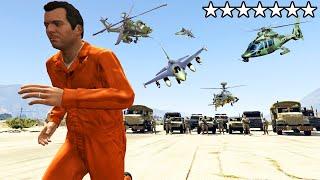 أخطر السجناء و7 نجمات في جي تي أي 5 | GTA V 7 Stars Prison Break