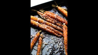 Morrocan Roasted Carrots with Garlicky Kefir Sauce