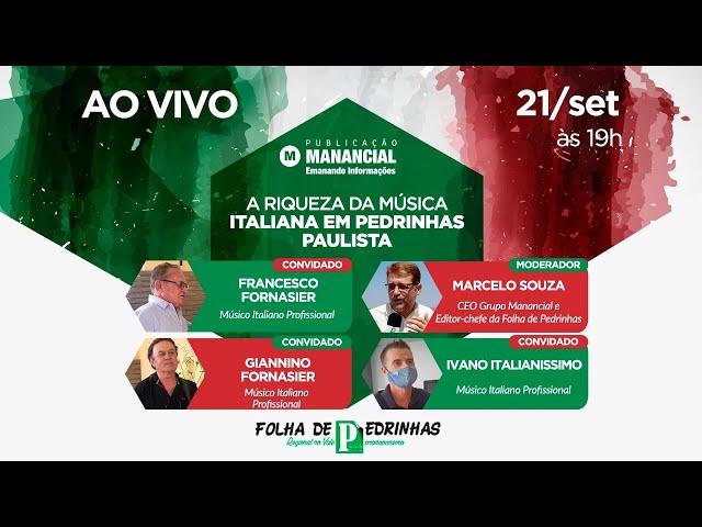 AO VIVO | A riqueza da música italiana em Pedrinhas Paulista | 68 anos de Pedrinhas Paulista