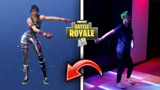 Ninja Does Fortnite Dances in *REAL LIFE* on Stream