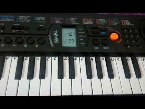 Goriya Chand ke Anjoriya nayan On Keyboard Harmonium (Bhojpuri Song)Easy Notes for Beginners