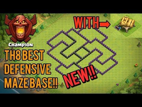 New Town Hall 8(TH8) Maze Base [DEFENSE]!! Clash Of Clash!