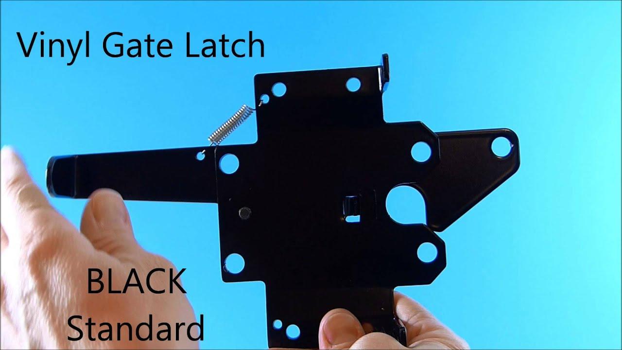 BLACK Standard Vinyl Gate Latch