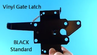 Black Standard Vinyl Gate Latch