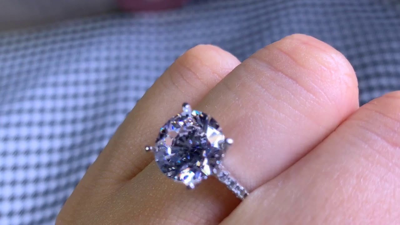 Gorgeous Round Cut Amethyst /& White Sapphire 925 Silver Ring 2pc Size 6-10