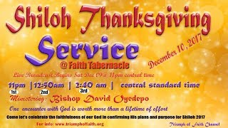 Shiloh 2017  Thanksgiving Service, December 10, 2017